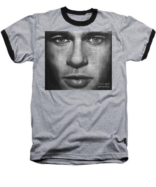 Art In The News 32- Brad Pitt Baseball T-Shirt