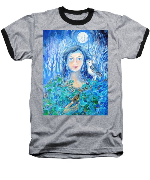 Artemis And The Wren- Baseball T-Shirt