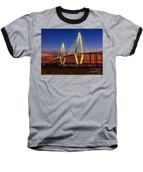 Arthur Ravenel Bridge At Evening  Baseball T-Shirt