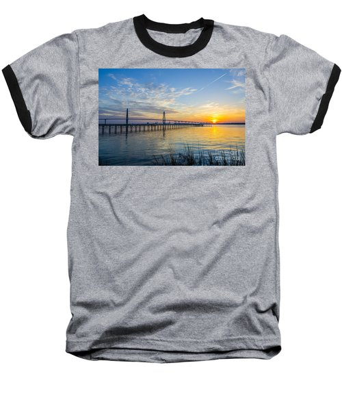 Baseball T-Shirt featuring the photograph Calm Waters Over Charleston Sc by Dale Powell
