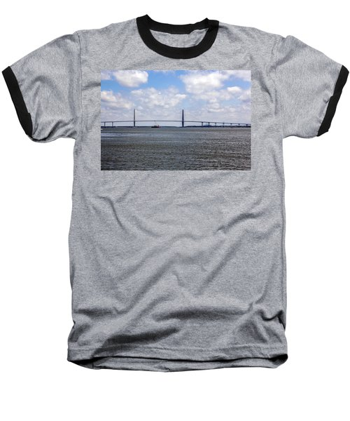 Baseball T-Shirt featuring the photograph Arthur Ravenel Bridge by Sennie Pierson