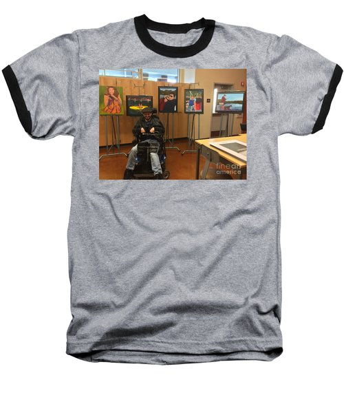 Artist With Lake Series Baseball T-Shirt by Donald J Ryker III