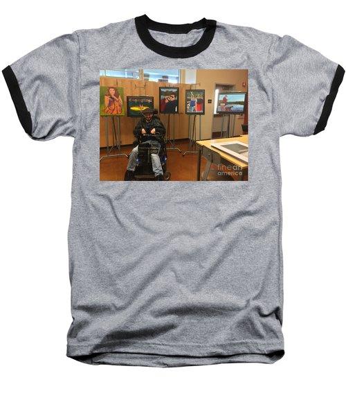 Artist With Lake Series Baseball T-Shirt