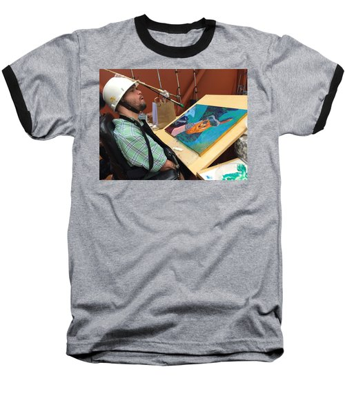 Artist Working Baseball T-Shirt by Donald J Ryker III
