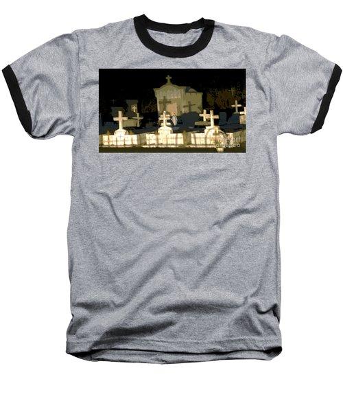 Louisiana Midnight Cemetery Lacombe Baseball T-Shirt