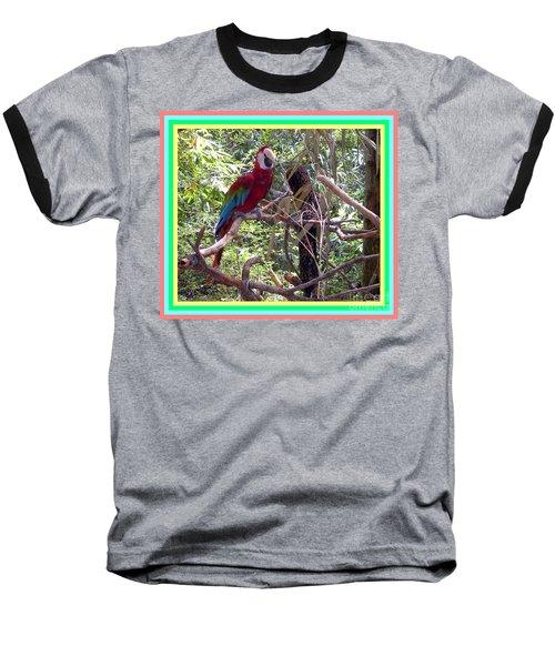 Baseball T-Shirt featuring the photograph Artistic Wild Hawaiian Parrot by Joseph Baril