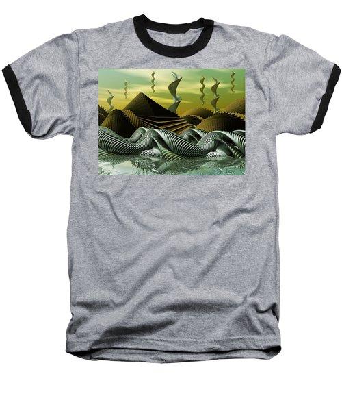 Baseball T-Shirt featuring the digital art Artscape by John Alexander