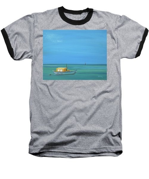 Baseball T-Shirt featuring the painting Aruba by Donna Tuten