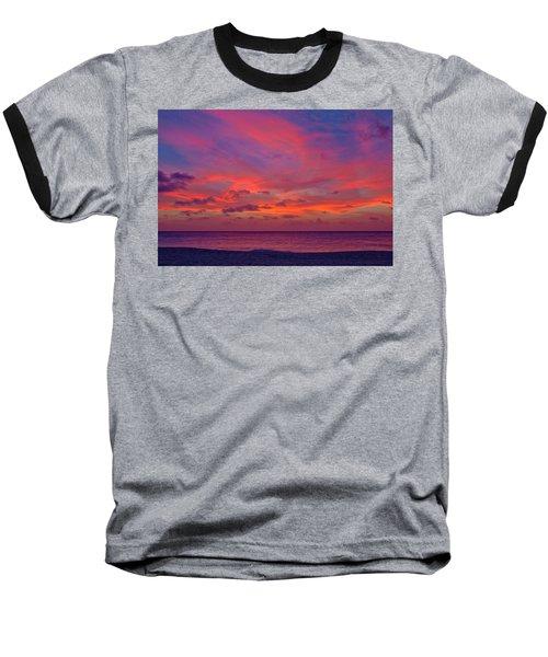 Aruba Sunset Baseball T-Shirt