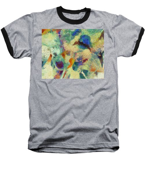 Baseball T-Shirt featuring the painting As Our Eyes Met by Joe Misrasi