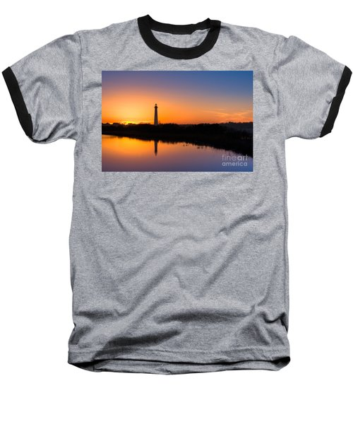 As The Sun Sets And The Water Reflects Baseball T-Shirt by Michael Ver Sprill