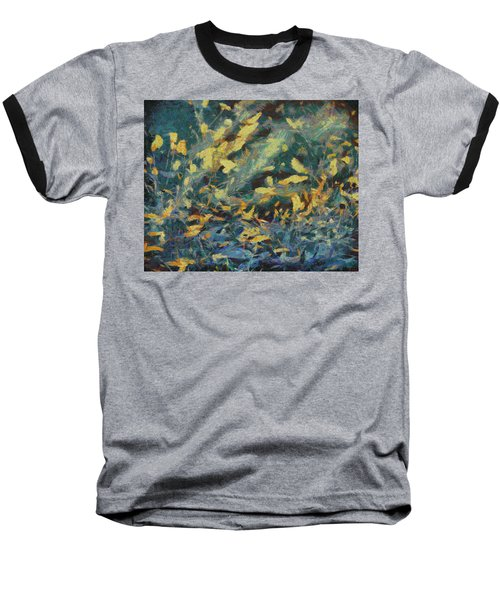 Baseball T-Shirt featuring the painting As The Wind Blows by Joe Misrasi