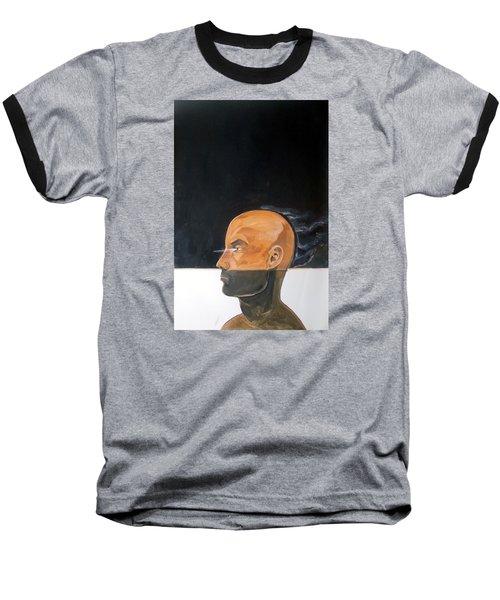 Baseball T-Shirt featuring the painting As Vapor Gutural by Lazaro Hurtado
