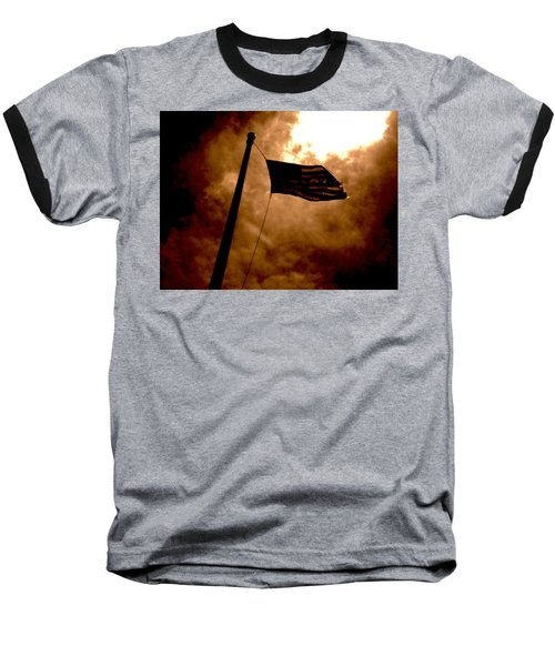 Ascend From Darkness Baseball T-Shirt by Paulo Guimaraes