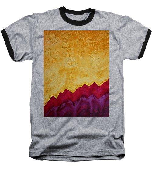 Ascension Original Painting Baseball T-Shirt by Sol Luckman