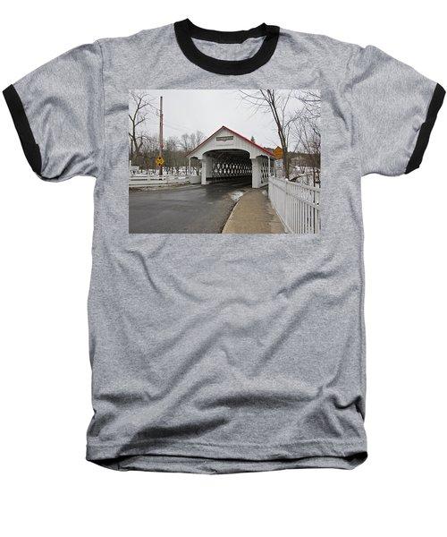 Ashuelot Bridge Baseball T-Shirt by MTBobbins Photography