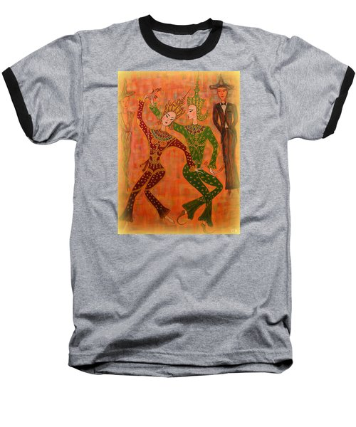 Asian Dancers Baseball T-Shirt