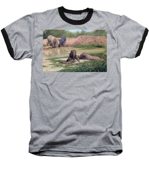Asian Elephants - In Support Of Boon Lott's Elephant Sanctuary Baseball T-Shirt