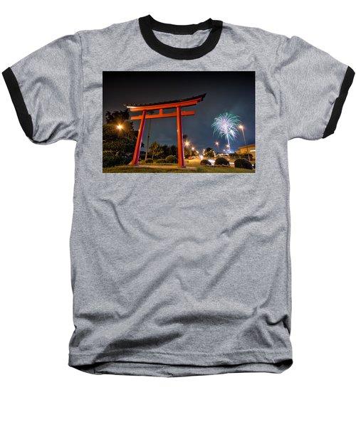 Baseball T-Shirt featuring the photograph Asian Fireworks by John Swartz