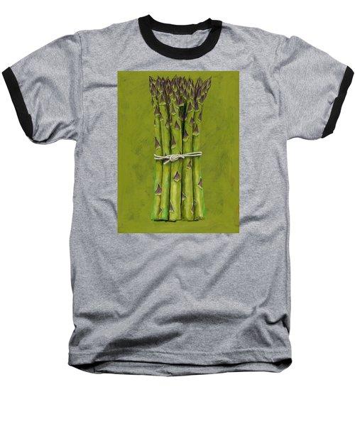 Asparagus Baseball T-Shirt by Brian James