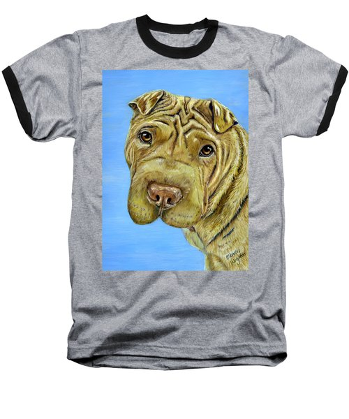 Beautiful Shar-pei Dog Portrait Baseball T-Shirt
