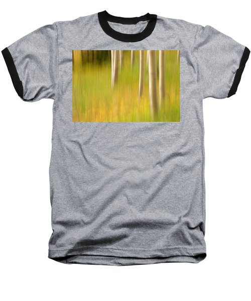 Aspen Abstract Baseball T-Shirt by Ronda Kimbrow