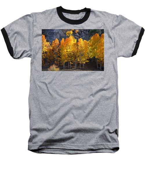Baseball T-Shirt featuring the photograph Aspen Gold by Lynn Bauer