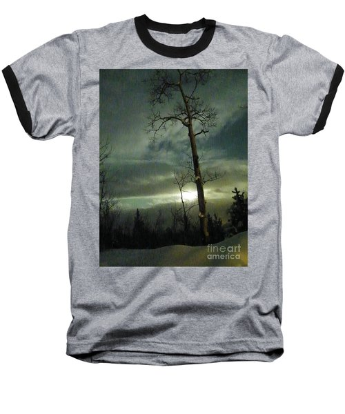 Aspen In Moonlight Baseball T-Shirt