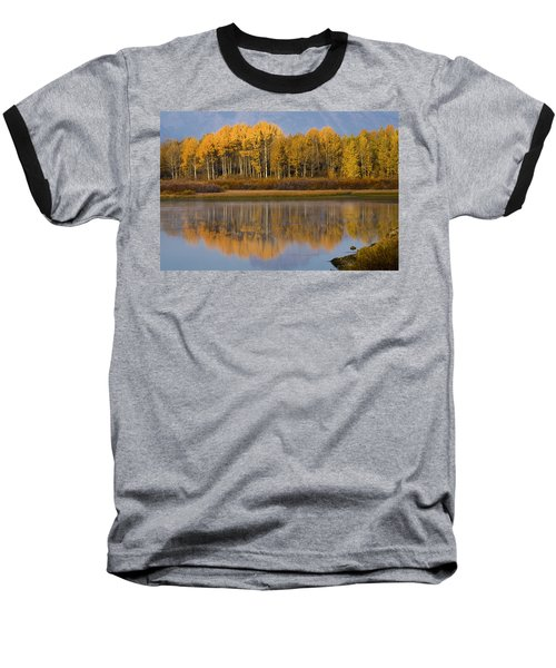 Baseball T-Shirt featuring the photograph Aspen Reflection by Sonya Lang