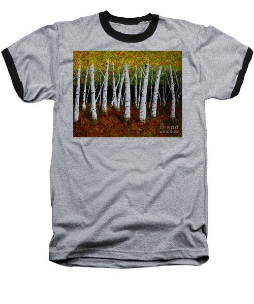 Aspens In Fall 2 Baseball T-Shirt by Melvin Turner
