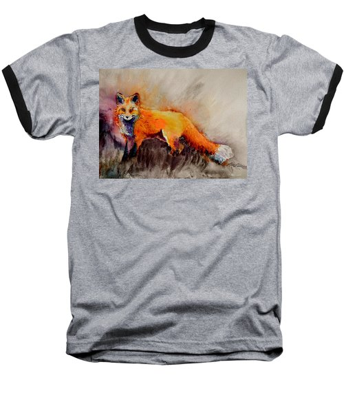 Baseball T-Shirt featuring the painting Assessing The Situation by Beverley Harper Tinsley