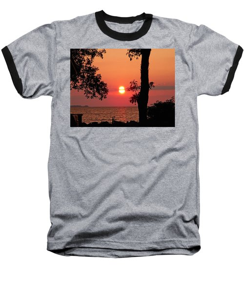 Baseball T-Shirt featuring the photograph Association Island Sunset by Aimee L Maher Photography and Art Visit ALMGallerydotcom