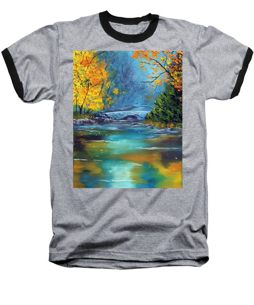 Baseball T-Shirt featuring the painting Assurance by Meaghan Troup
