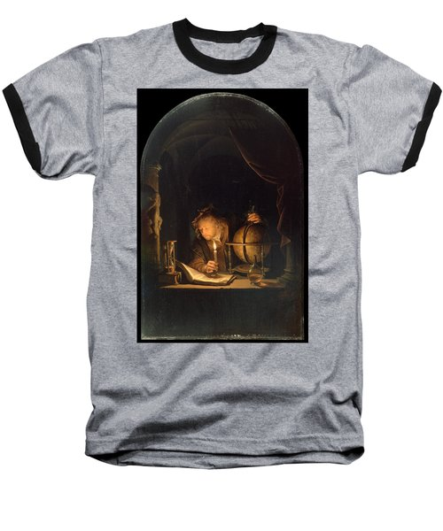 Astronomer By Candlelight Baseball T-Shirt by Gerrit Dou