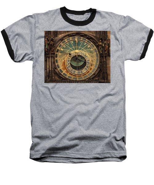 Astronomical Clock Baseball T-Shirt