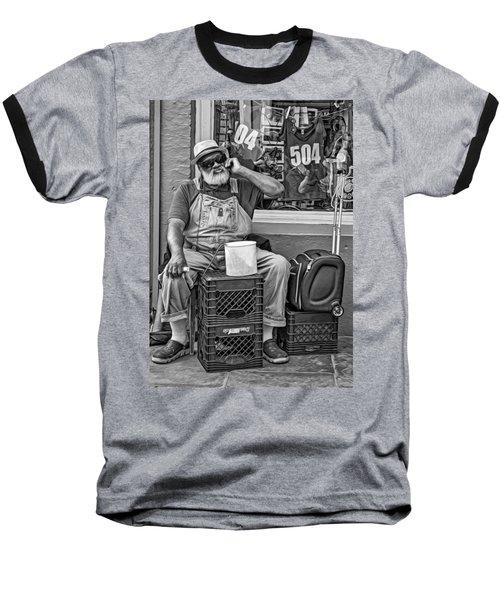At His Office - Grandpa Elliott Small Bw Baseball T-Shirt