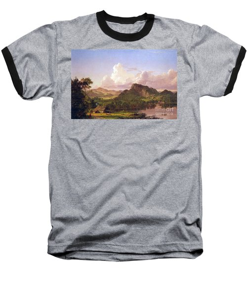 At Home On The Lake By Frederick Edwin Church Baseball T-Shirt