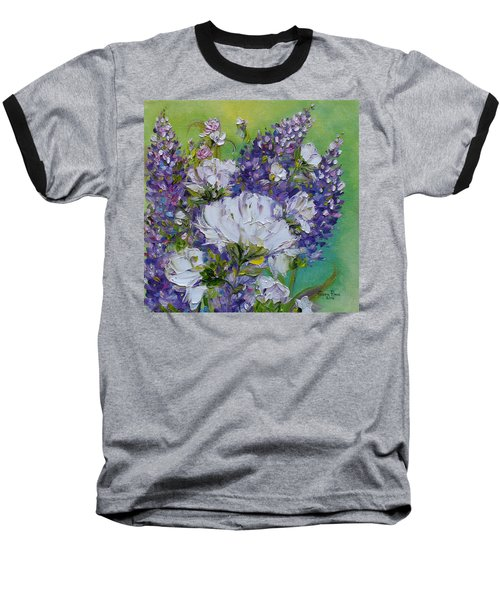Baseball T-Shirt featuring the painting At Peg's Request by Judith Rhue