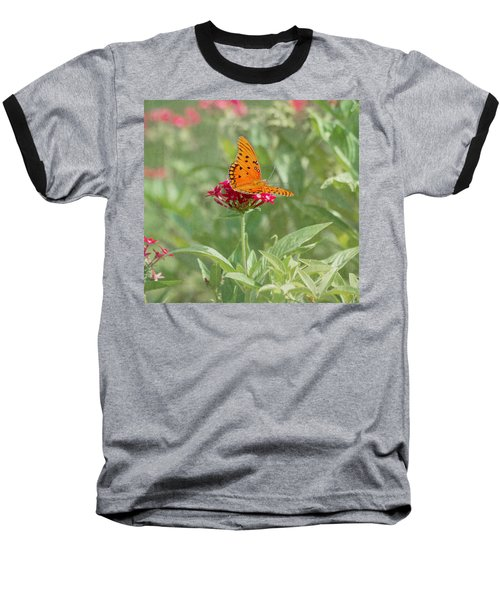 At Rest - Gulf Fritillary Butterfly Baseball T-Shirt