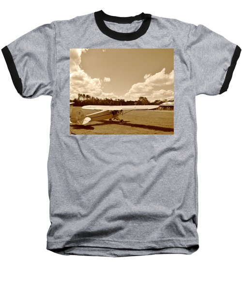 At The Airfield Baseball T-Shirt by Jean Goodwin Brooks
