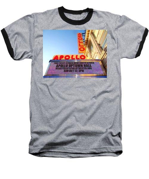 At The Apollo Baseball T-Shirt by Ed Weidman