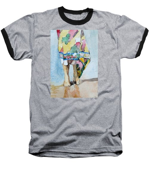 At The Beach 1  Baseball T-Shirt by Becky Kim