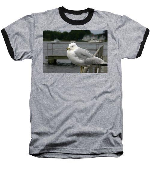 At The Boat Landing Baseball T-Shirt by Denyse Duhaime