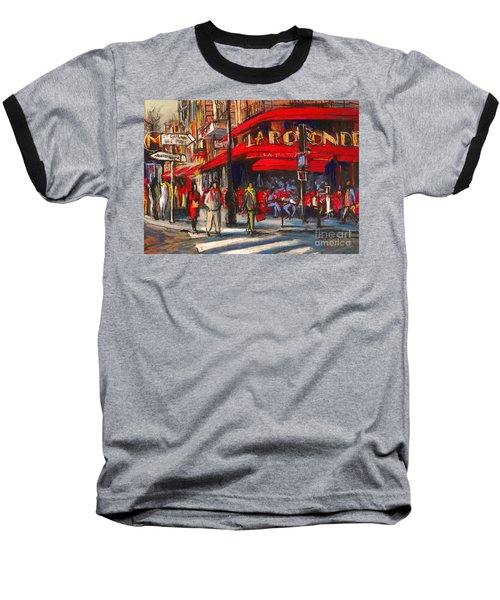At The Cafe De La Rotonde Paris Baseball T-Shirt