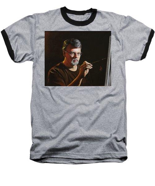 At The Easel Self Portrait Baseball T-Shirt