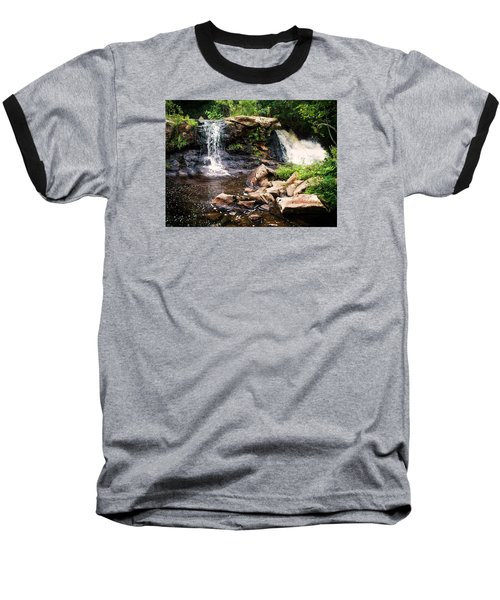 At The Mill Pond Dam Baseball T-Shirt by Joy Nichols