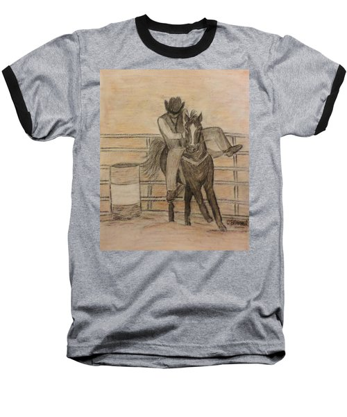 At The Rodeo Baseball T-Shirt by Christy Saunders Church