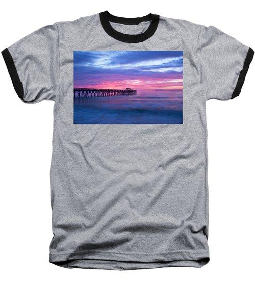 Myrtle Beach State Park Pier Sunrise Baseball T-Shirt