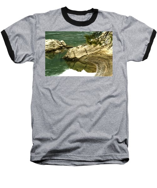 At The Waters Edge Baseball T-Shirt by Loni Collins