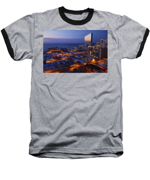 Atlantic City At Dawn Baseball T-Shirt by Joan Reese